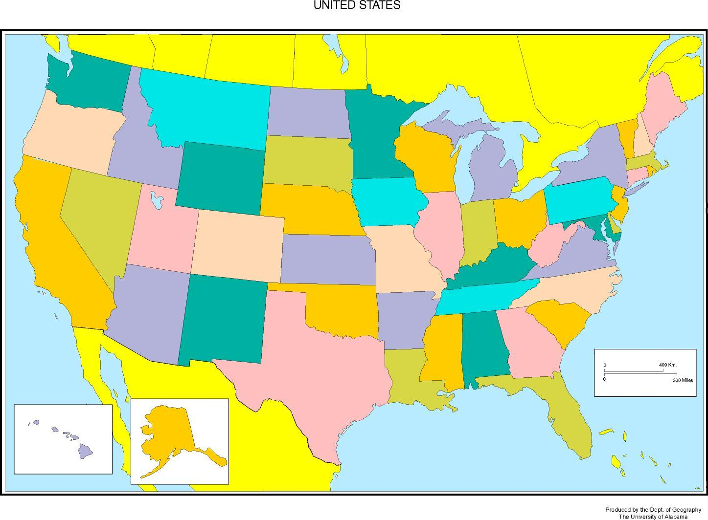 50 Amerikanske Stater Kort Kort Over De 50 Stater I Usa