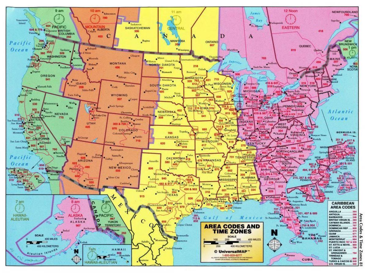 Os Tidszone Kort Usa Kort Med Tidszoner Det Nordlige Amerika